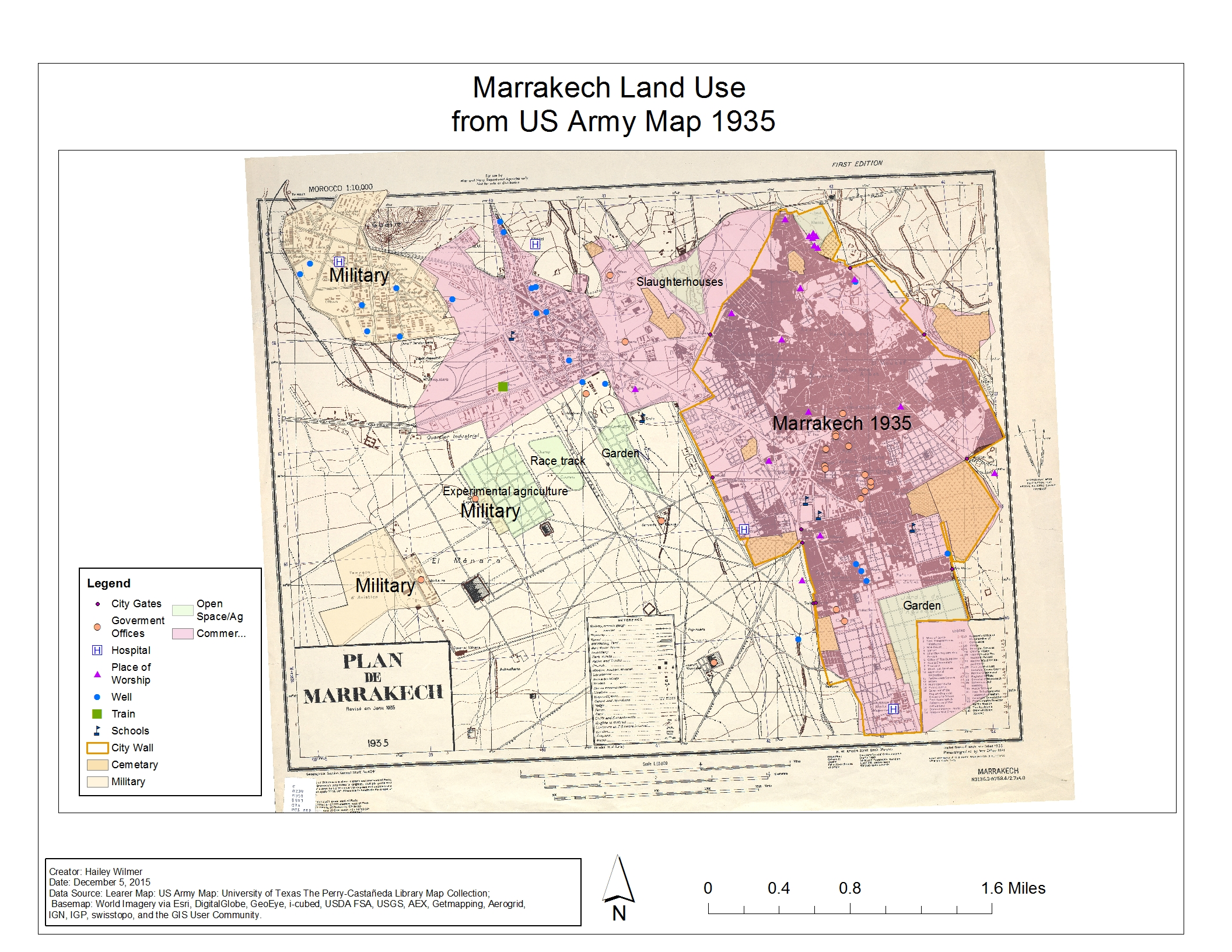 Layout 2 Marrakech Land Use From Us Arm Map 1935